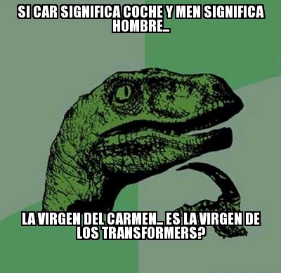virgen del carmen transformers