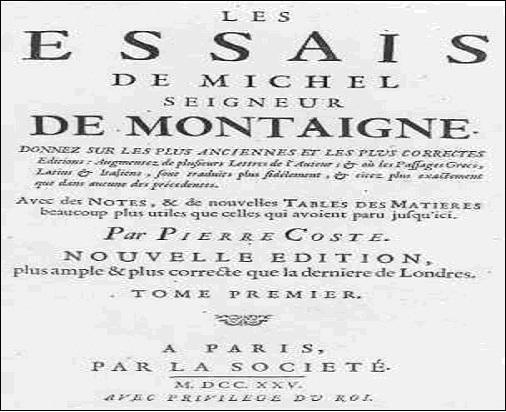 Primer cartel publicitario de la historia Montaigne