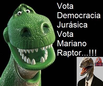 Dinosaurio divertido democracia jurasica