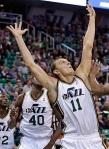 Andris Biedrins Utah Jazz